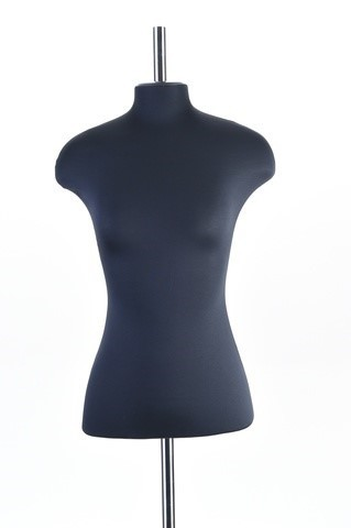 Манекен портной женский из стеклопластика 56 размер ОСТ (черный)