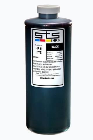 Водорастворимые чернила STS для HP Black 1000 мл