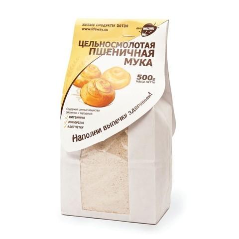 Мука Пшеничная цельносмолотая, 500 гр. (Образ жизни)
