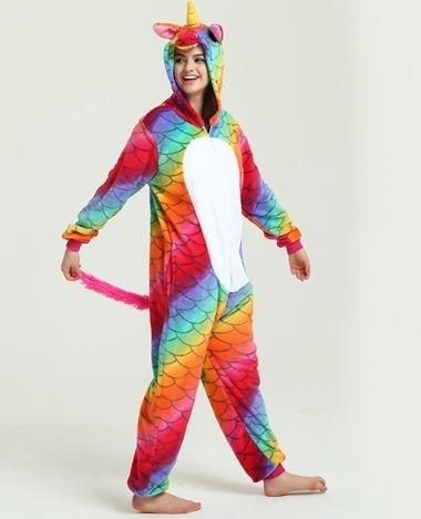 Пижама кигуруми Единорог Огненный