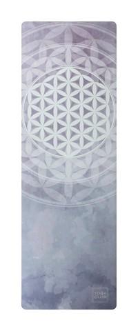 Коврик для йоги Flower of Life (YC) 183*61*0,1-0,3 см из микрофибры и каучука