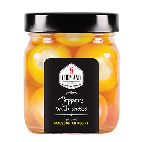 Перчики острые оранжевые Gurmano с брынзой