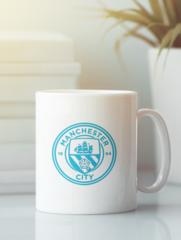 Кружка с изображением FC Manchester City (ФК Манчестер Сити) белая 005