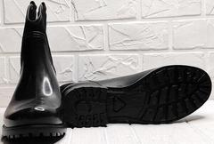 Модные резиновые сапоги осенние женские Mida 22377-249 Black.