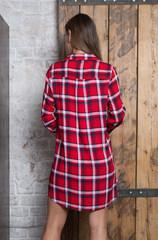 Женская рубашка из 100% вискозы Белый, Красный