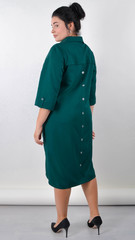 Ріо. Витончена сукня для пишних жінок. Смарагд.
