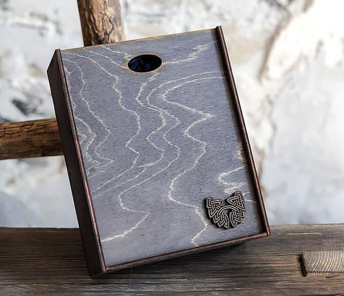 BOX231-1 Деревянная фирменная коробка формата А6 (19*15*6 см) фото 02