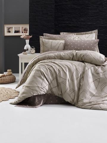 Комплект постельного белья DO&CO Сатин DELUX Семейный ROVENA цвет бежевый