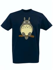 Футболка с принтом Мой сосед Тоторо (Totoro) темно-синяя 005