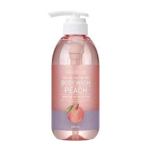 Welcos Around Me Natural Perfume Vita Body Wash Peach персиковый гель для душа