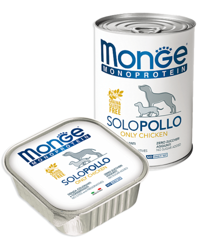 Monge Monoprotein Dog All Breeds Solo Pollo Only Chicken