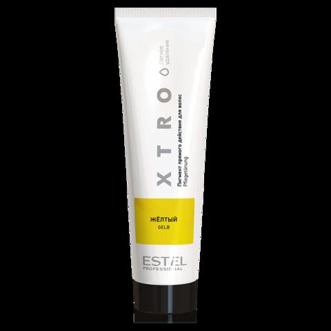 Пигмент прямого действия для волос XTRO WHITE Желтый, 100 мл
