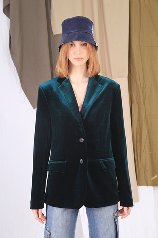 Богемный пиджак из бархата