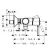 Смеситель для душа Hansgrohe Talis Classic  14161000 схема