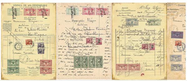 Водорастворимая бумага Почтовые карточки