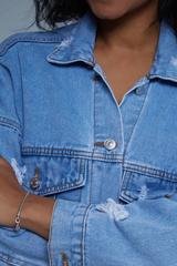 Джинсовая куртка с нашивками женская оптом