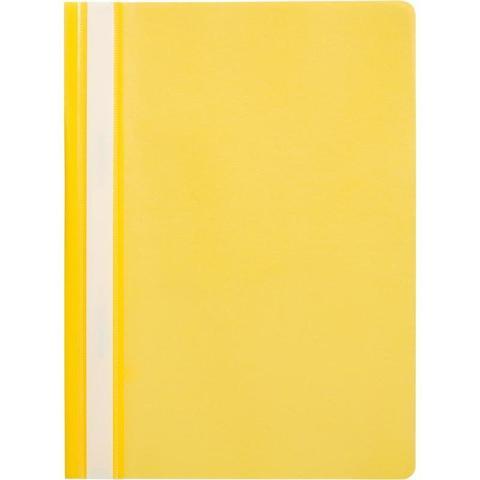 Скоросшиватель пластиковый Attache A4 до 100 листов желтый (толщина обложки 0.13/0.15 мм, 10 штук в упаковке)
