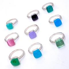 33309 -Кольцо Caramel  из серебра с пепельно-розовым кварцем