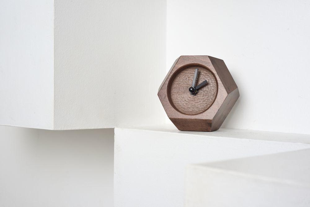 Table Clock Wood Job