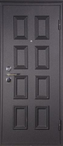 Дверь входная L-4 стальная, венге, 2 замка, фабрика Арсенал