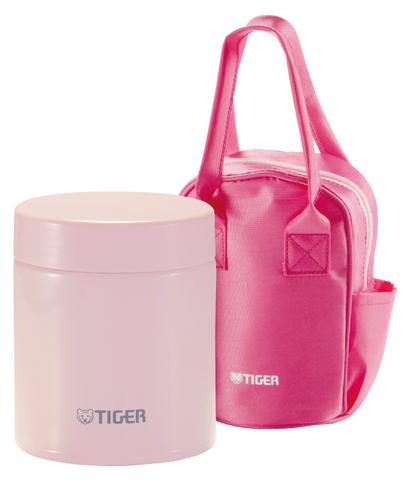 Термос для еды Tiger MCJ-A (0,5 литра) в сумке, малиновый