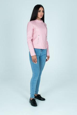 Куртка розовая кожаная косуха оптом