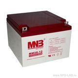Аккумулятор для ИБП MNB MM 28-12 (12V 28Ah / 12В 28Ач) - фотография