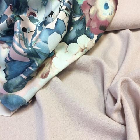 Ткань шерсть креп нюдовый цвет 3084
