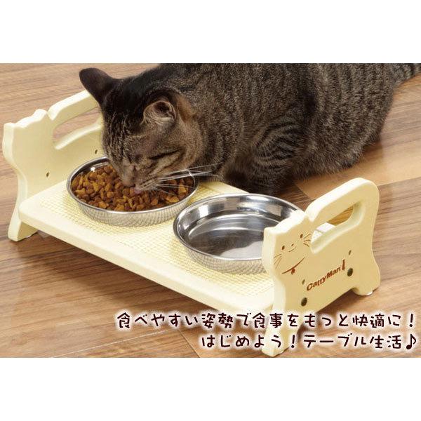 подставка для мисок кошек из дерева