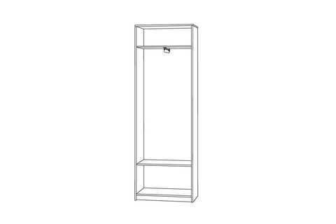 Шкаф для одежды Глория 138 Моби ясень шимо темный/светлый
