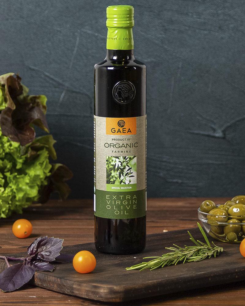 Масло оливковое GAEA Экстра Вирджин Органик 500мл.