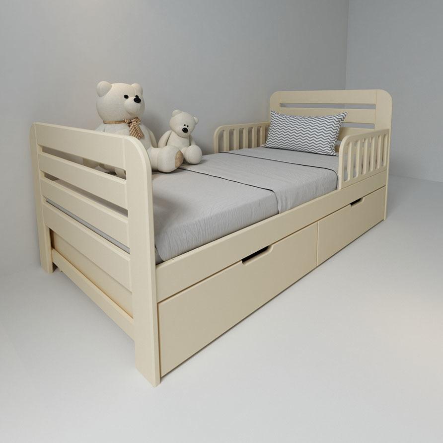 Кровать с ящиками Феалта-baby Охта Слоновая кость