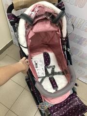 Санки-коляска Nika (арт. НД7-1Б) с фламинго сливовый