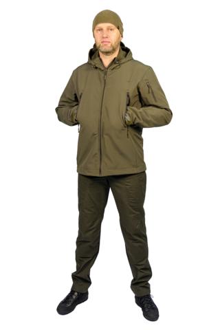 Куртка тактическая СофтШелл SoftShell Jacket Олива (WOLF)