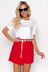 <p>Юбка-шорты -очень женственная и одновременно удобная деталь гардероба. Эта модель гармонично объединила элегантность юбки и практичность шорт. Пояс идет в комплекте.&nbsp;</p>