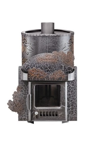 Дровяная банная печь Ферингер МИНИ в кожухе ДУБ паровая с закрытой каменкой