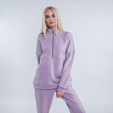 Warm sporty sweatshirt for women - Heather