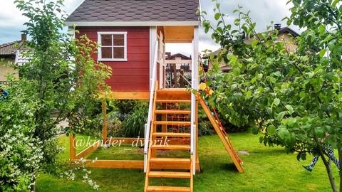 Детский игровой деревянный домик Василек