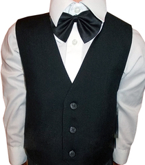 Детский классический костюм для мальчика (черный)