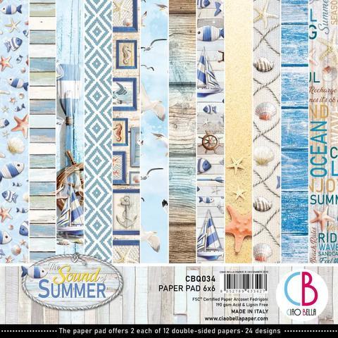 Набор двусторонней бумаги 15х15 см Ciao Bella - Sound Of Summer -24л