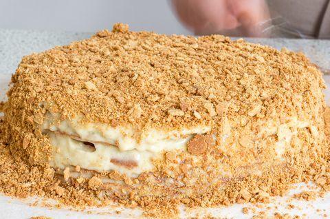 Торт «Наполеон» без глютена, вес торта - 1 килограмм