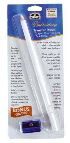 Смываемый карандаш для разметки канвы, белый DMC