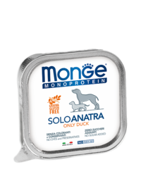Monge Monoprotein Dog All Breeds Solo Anatra Only Duck