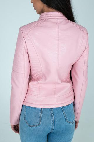 Куртка розовая кожаная косуха купить