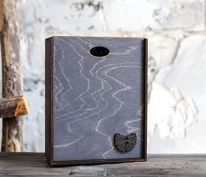 BOX231-1 Деревянная фирменная коробка формата А6 (19*15*6 см) фото 06