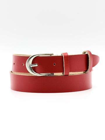 Женский кожаный красный ремень 25 мм Coscet WW25-1-1