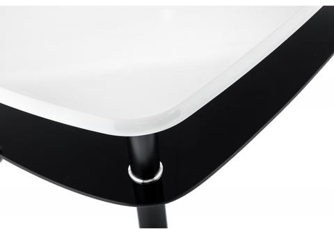 Стеклянный стол кухонный, обеденный, для гостиной Журнальный Neon 60*60*36 Черный /Белый