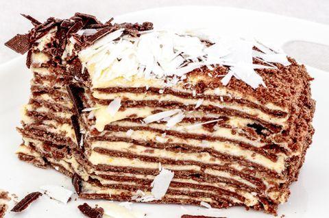 Шоколадный торт «Наполеон» без глютена, вес торта - 1,5 кг