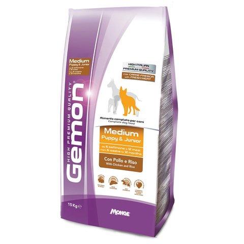 Gemon Dog Medium Сухой корм для щенков средних пород с курицей и рисом