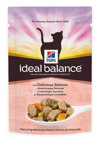 купить Hill's™ Ideal Balance™ Pauch with Delicious Salmon пауч (влажный корм) для кошек с аппетитным лососем